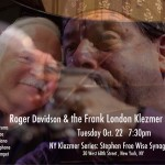 Oct. 22, 2013, Roger Davidson with the Frank London Klezmer Orchestra